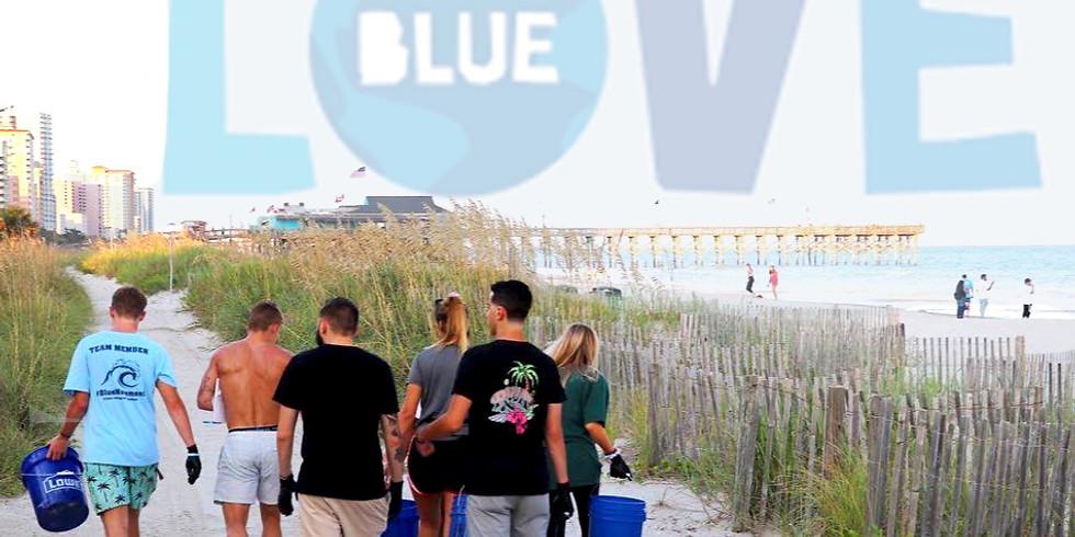 LOVE BLUE SUMMER BEACH CLEANUP