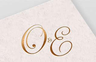 O&E Wedding Monogram