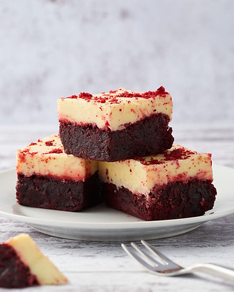 Red Velvet White Choc Fudge - Brownie (Pack of 6)