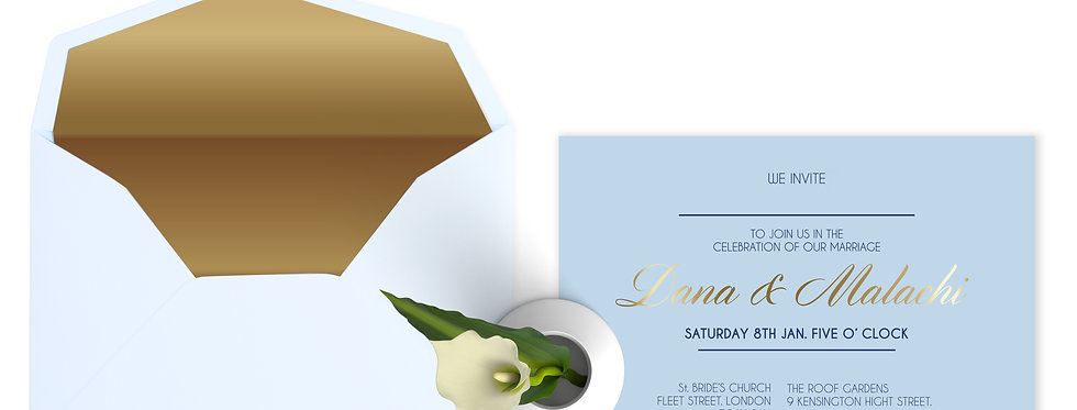 MMO A5 - Hardcover Wedding Invitation