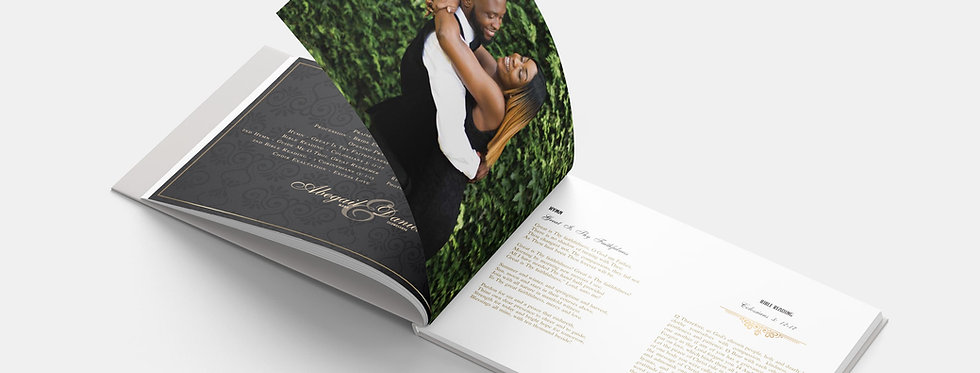 Wedding Order of Service Booklet - Landscape A5