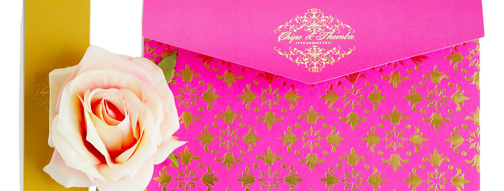MMO Gold Foiled Pocketfold - Wedding Invitation