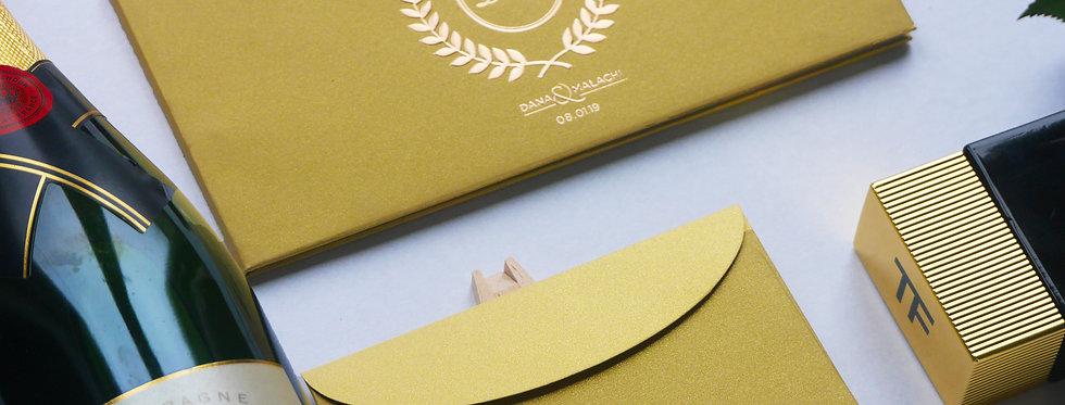 MMO Bullion - Embossed Gold Foil Wedding Invitation Card