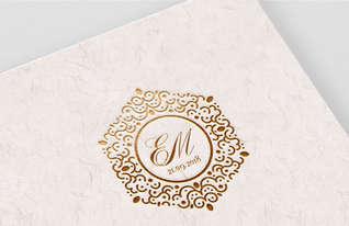 EM Wedding Monogram