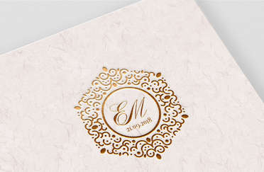 EM Wedding Monogram