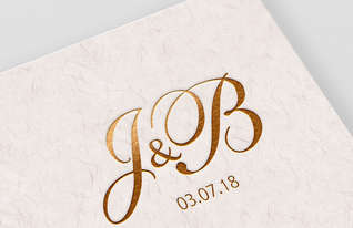 J&B Wedding Monogram