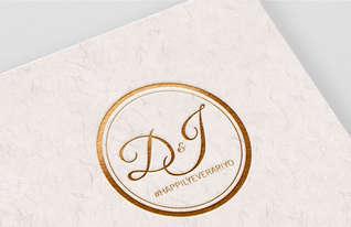 D&J Wedding Monogram