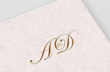 A&D Wedding Monogram