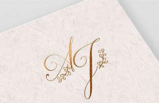 AJ Wedding Monogram