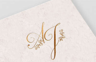 AJ Wedding Monogram
