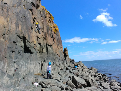 Hawkcraig: a boulder-strewn, yet surprisingly child-friendly beach