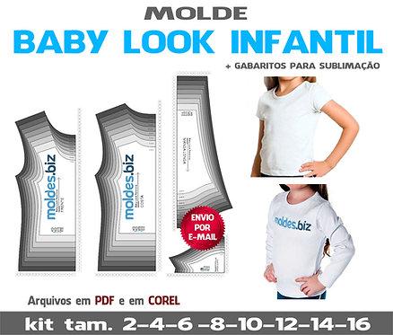 KIT MOLDES BABY LOOK INFANTIL FEMININA