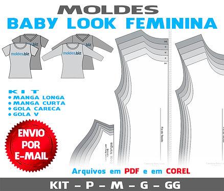 KIT MOLDES BABY LOOK FEMININA