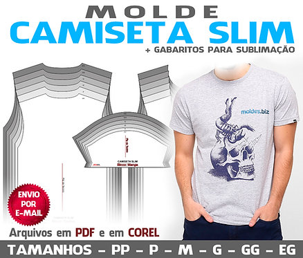 MOLDE CAMISETA SLIM