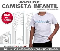 molde camiseta infantil modelagem gratis