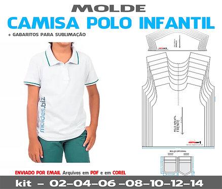 MOLDE CAMISA POLO INFANTIL