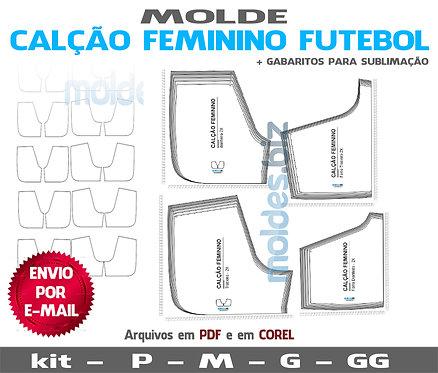 MOLDE CALÇÃO FEMININO FUTEBOL