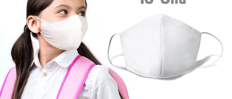 10 Mascaras Infantis Dupla Proteção 100% Algodão - Lavável