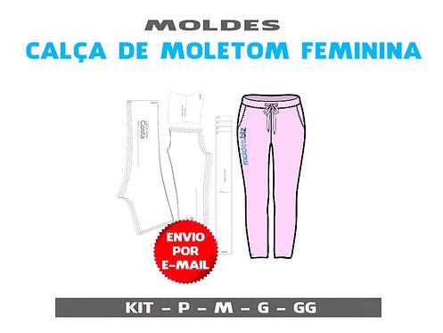 MOLDE CALÇA MOLETOM FEMININA