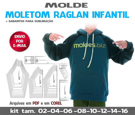 MOLDE MOLETOM RAGLAN INFANTIL
