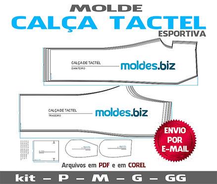 MOLDE CALÇA DE TACTEL ESPORTIVA