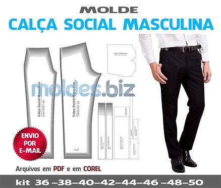 MOLDE CALÇA SOCIAL MASCULINA