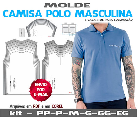 Molde Polo Masculina