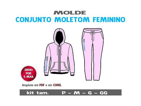 CONJUNTO MOLETOM FEMININO Jaqueta e Calça