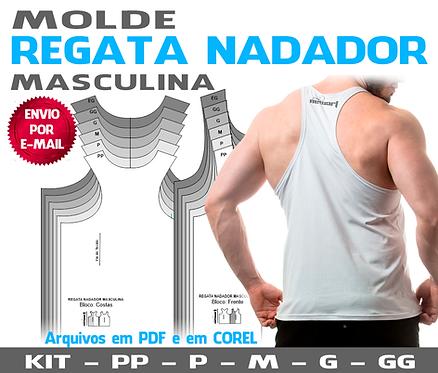 MOLDE REGATA MASCULINA NADADOR