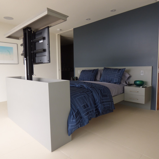 Custom Bed with T.V. Lift Built in