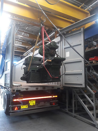 loading machines removed for export