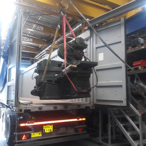 containers loaded