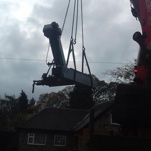 loading convayor from swarf tray