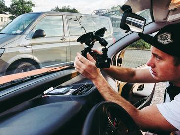 GoPro anbringen für TV Reportage