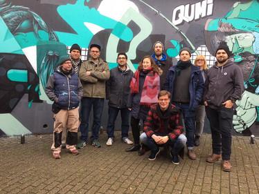 Crew & Cast am Set von Art in the city