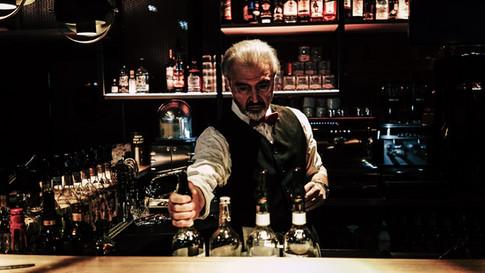 Dreharbeiten in der Bar