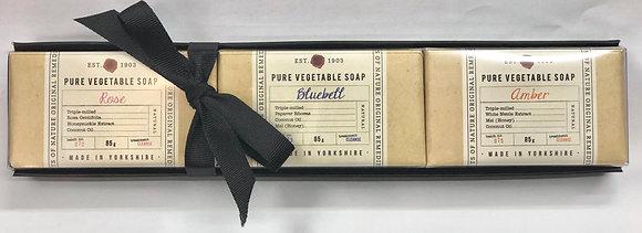 肥皂禮品套裝-B(玫瑰,藍鈴花,琥珀)