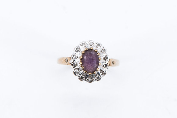 9ct Gold Purple Stone Ring