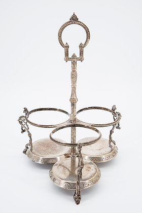 Victorian Silver Plated Wine Carrier