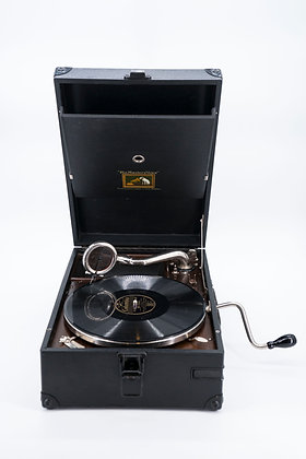 Hmv Portable Hand Wind Gramophone Model 101G