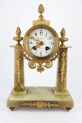 Early 20th Century French Marble Mounted Clock