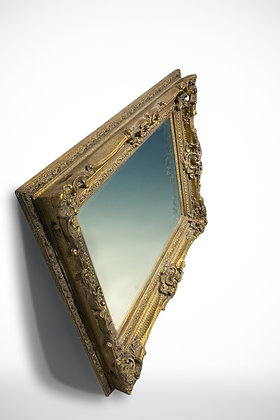 C1950 French Richly Carved Mirror