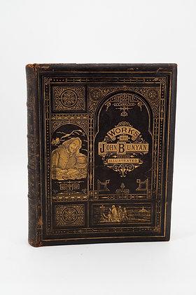 C1860 The Pilgrim Progress & Works of John Bunyan Leather Book
