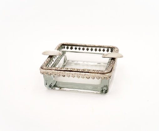 VINTAGE STYLE ASHTRAY (SILVER)