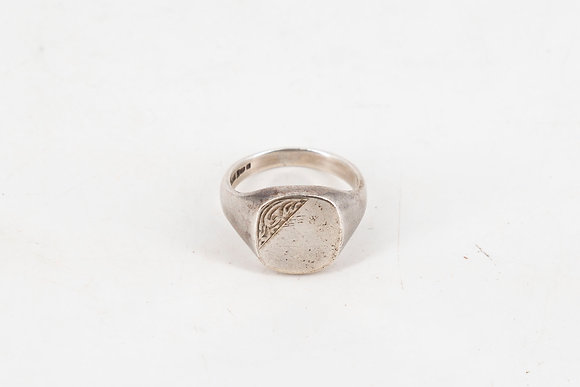 Silver Men's Signet Ring