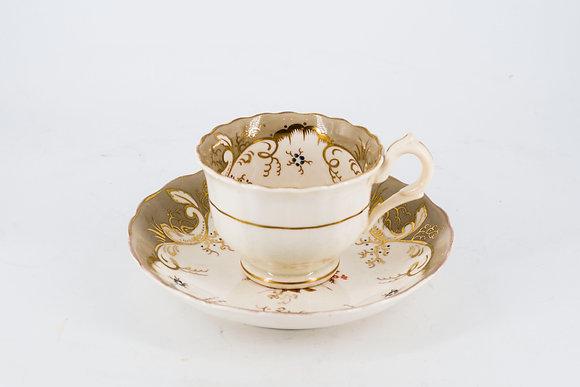 1940-60年代 金色華貴款茶杯+茶碟
