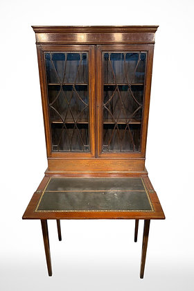 C1780-1810 Oak Wooden Cabinet With Writing Board