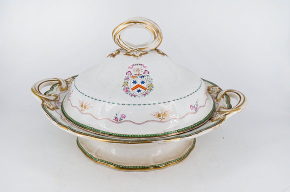 19th Century Porcelain Covered Vegetable Dish