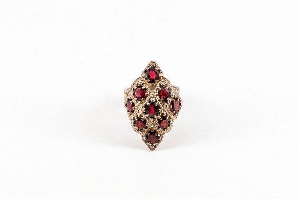 1977年 石榴石H.M銀戒指