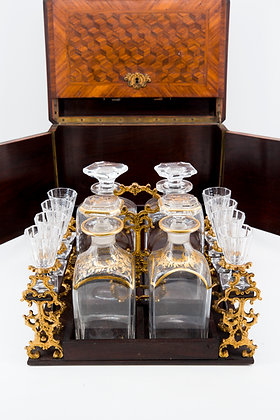 1860s Baccarat Tantalus (Liquor Set) with Crystal Decanters
